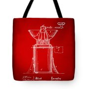 1873 Coffee Mills Patent Artwork Red Tote Bag