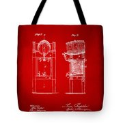 1876 Beer Keg Cooler Patent Artwork Red Tote Bag