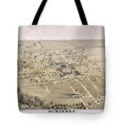 1876 Birds Eye Map Of Mckinney Texas Tote Bag