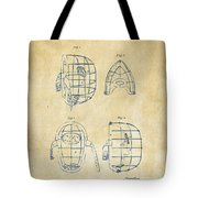 1878 Baseball Catchers Mask Patent - Vintage Tote Bag by Nikki Marie Smith