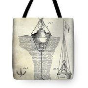 1878 Buoy Patent Drawing Tote Bag