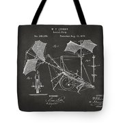1879 Quinby Aerial Ship Patent - Gray Tote Bag by Nikki Marie Smith