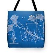 1879 Quinby Aerial Ship Patent Minimal - Blueprint Tote Bag