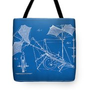 1879 Quinby Aerial Ship Patent Minimal - Blueprint Tote Bag by Nikki Marie Smith