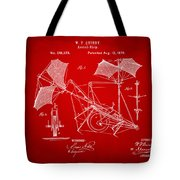 1879 Quinby Aerial Ship Patent - Red Tote Bag