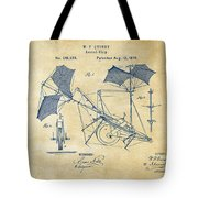 1879 Quinby Aerial Ship Patent - Vintage Tote Bag by Nikki Marie Smith