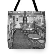 1880 Drug Store Black And White Tote Bag