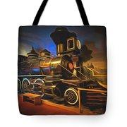 1880 Steam Locomotive  Tote Bag