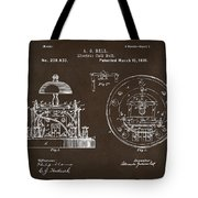 1881 Alexander Graham Bell Electric Call Bell Patent Espresso Tote Bag
