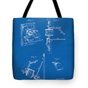 1881 Taylor Camera Obscura Patent Blueprint Tote Bag
