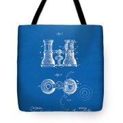 1882 Opera Glass Patent Artwork - Blueprint Tote Bag