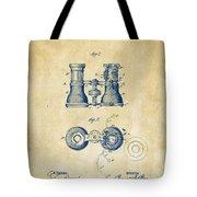 1882 Opera Glass Patent Artwork - Vintage Tote Bag