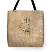 1882 Urinal Patent Tote Bag