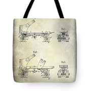 1885 Roller Skate Patent Drawing Tote Bag