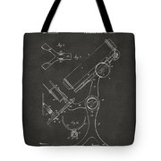 1886 Microscope Patent Artwork - Gray Tote Bag