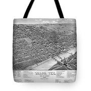1886 Vintage Map Of Waco Texas Tote Bag