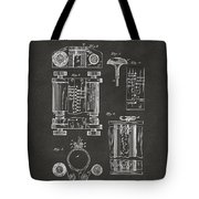 1889 First Computer Patent Gray Tote Bag
