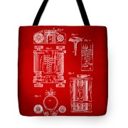 1889 First Computer Patent Red Tote Bag