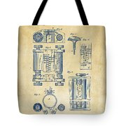 1889 First Computer Patent Vintage Tote Bag