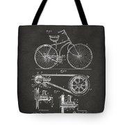 1890 Bicycle Patent Artwork - Gray Tote Bag