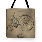 1890 Bicycle Patent Tote Bag