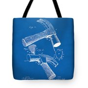 1890 Hammer Patent Artwork - Blueprint Tote Bag