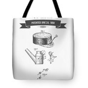 1890 Miners Lamp Holder Patent Drawing - Retro Gray Tote Bag
