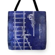 1890 Railway Switch Patent Drawing Blue Tote Bag