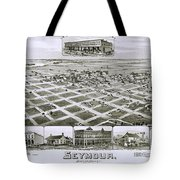 1890 Vintage Map Of Seymour Texas Tote Bag