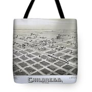 1890 Vintage Map Of Childress Texas Tote Bag