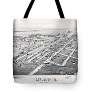 1890 Vintage Map Of Plano Texas Tote Bag