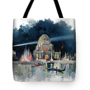 1890s Night In Grand Court Of World Tote Bag