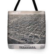 Vintage Perspective Map Of Texarkana Tote Bag