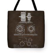 1891 Tesla Electro Magnetic Motor Patent Espresso Tote Bag