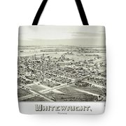 1891 Vintage Map Of Whitewright Texas Tote Bag