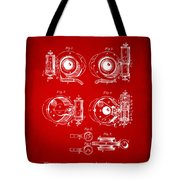 1892 Barker Camera Shutter Patent Red Tote Bag