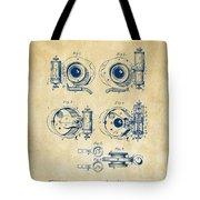 1892 Barker Camera Shutter Patent Vintage Tote Bag
