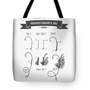 1892 Fishing Fly Patent Drawing Tote Bag