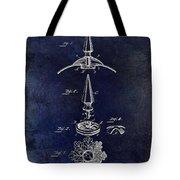 1892 Motorcycle Helmet Spike Patent Drawing Blue Tote Bag