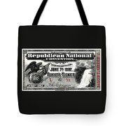 1892 Republican Convention Ticket Tote Bag