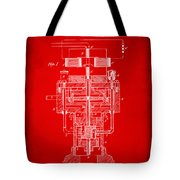 1894 Tesla Electric Generator Patent Red Tote Bag by Nikki Marie Smith