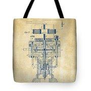 1894 Tesla Electric Generator Patent Vintage Tote Bag by Nikki Marie Smith