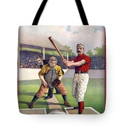 1895 Batter Up At Home Plate Tote Bag