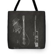 1896 Brown Guitar Patent Artwork - Gray Tote Bag