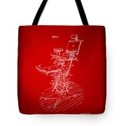1896 Dental Chair Patent Red Tote Bag