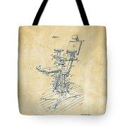 1896 Dental Chair Patent Vintage Tote Bag