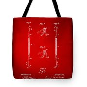 1896 Dental Excavator Patent Red Tote Bag