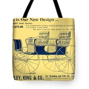 1898 - Hawley King And Company - Surrey Buggy Advertisement - Color Tote Bag