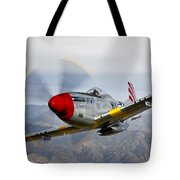 A P-51d Mustang In Flight Tote Bag