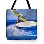 Windsurfing Tote Bag by George Atsametakis